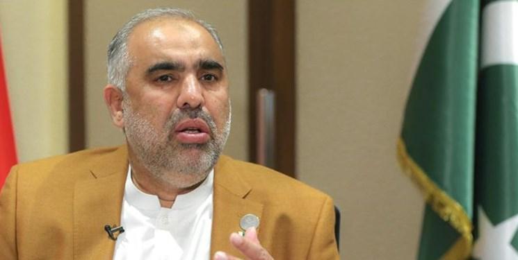 رئیس مجلس ملی پاکستان: به کوشش برای برطرف تحریم ها علیه ایران ادامه می دهیم