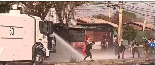 مردم شیلی، معترض به قرنطینه، عکس